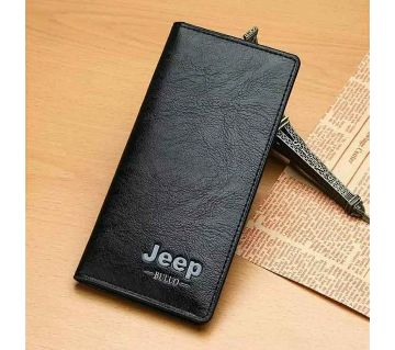 Jeep chocolate High quality Artificial Leather Long wallet for men