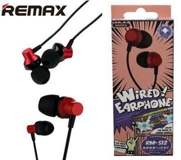Remax Earphone Rm 512 New Version 2019 - Black