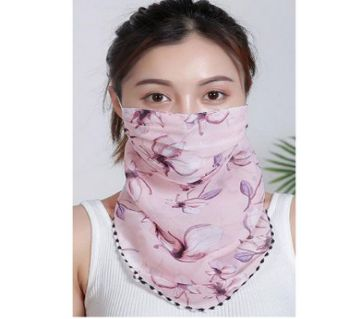 Chiffon  Face Mask Scarf Protection - Pink