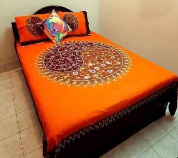 King Size Cotton Bedsheet With 2 Piece Pillow Cover