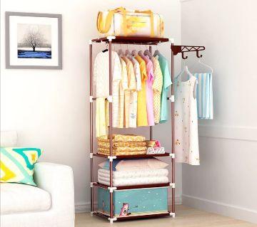 Beauty Land Korean Multipurpose 3 Layer Cloth Organizer Rack Wardrobe