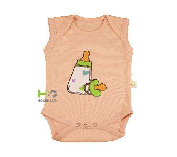 Baby Romper/Creeper unisex Cotton Sleeveless Light Dress Pink