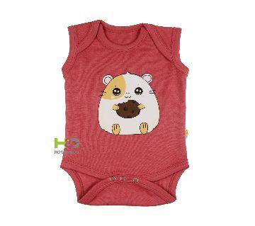 Baby Romper/Creeper unisex Cotton Sleeveless Dress Maroon