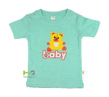Cotton T-shirt for baby Light Green Baby