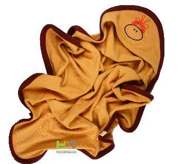 Baby Cap Towel - Hooded Towel -(30 x 28inch)-Brown -1Pcs(Border)