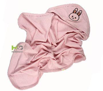 Baby Cap Towel - Hooded Towel -(30 x 28inch)-Pink -1Pcs