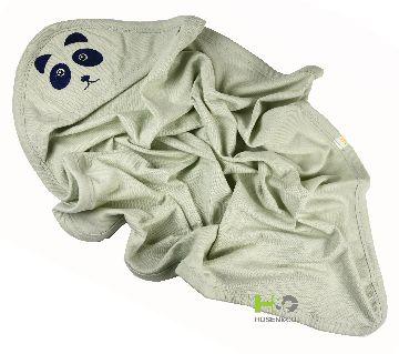 Baby Cap Towel - Hooded Towel -(30 x 28 inch)- Light Green -1Pcs