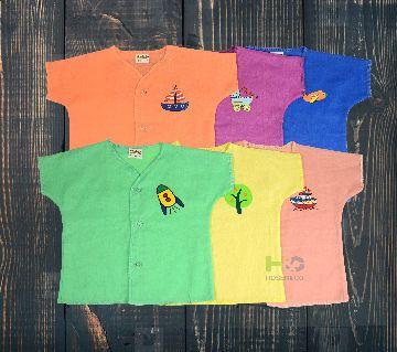 Cotton Nima for Baby-Half sleeves -Solid Multicolor- (6 Pcs)