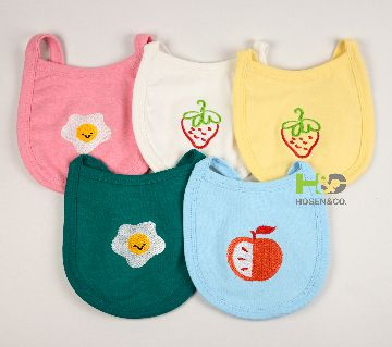 Bib for Baby - Embroidery - 5Pcs