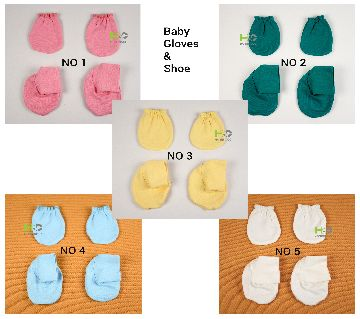 Golves and Shoes for Newborn Baby 5 Set