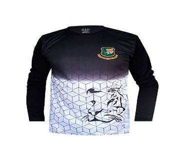 Bangladesh cricket team practice jersey full sleeve - Black & White