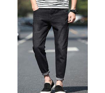 Stretchable Denim Jeans Pant for Men-Black