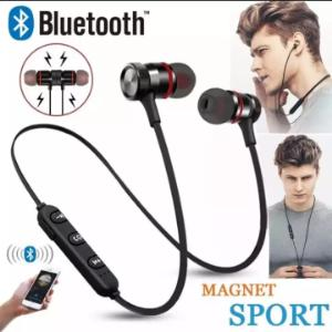 Wireless sports Bluetooth Magnet Ear phone headset with mic