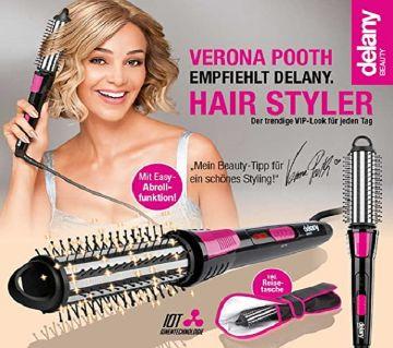 Beauty Hair Styler 3 in 1 Curling Tongs Heat Tool Round Brush Tongs