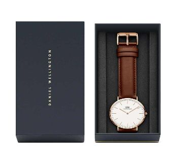 DW Leather Analog Watch For Men