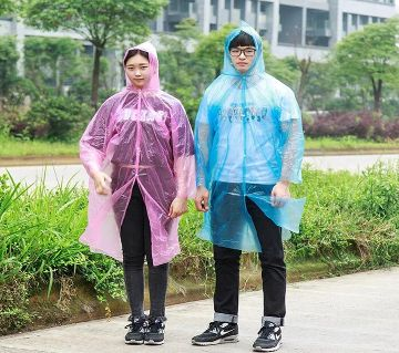 Unisex Polyester Rain Coat Multicolor