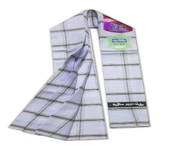 Premium Quality Stitched Cotton Fabric Lungi - All Time