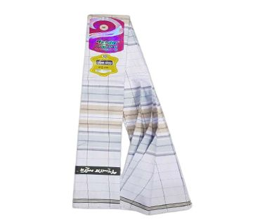 Premium Quality Stitched Cotton Fabric Lungi - Holy Touch