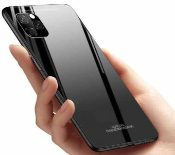 iPhone 11 Pro (5.8) HONG KONG Design Tempered Glass Protector Casing Glass Back Cover - Black