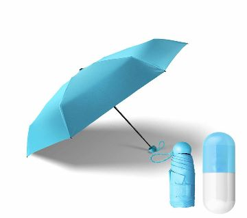 Windproof Pocket Capsule Umbrella-Sky Blue