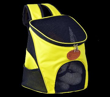 Pet Carrier Bag Pet Travel Outdoor Carry Cat Dog and Rabbit Backpack    , Yellow
