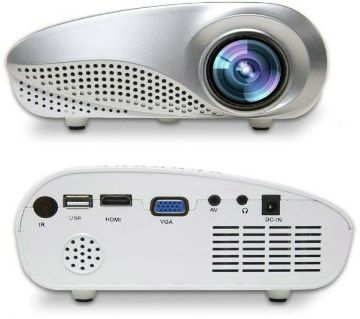 HD Mini LED Projector - White