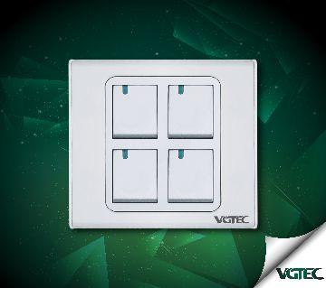 VGTEC - 4 gang 1 way switch (Exclusive series)