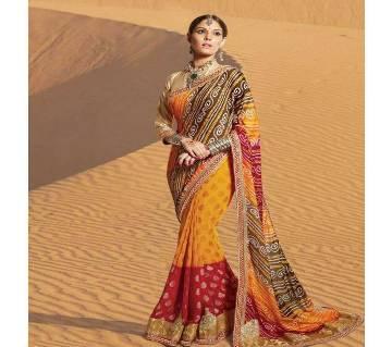 Indian designer georgette chunri sharee