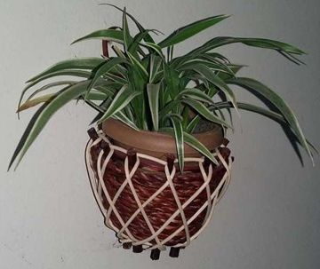 Bamboo and Cane Made wall Hanging Tree tub