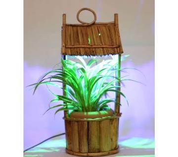 শো-পিস ইনডোর প্লান্ট সাথে LED লাইট