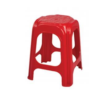 High Solid Plastic Stool - Red- B 306