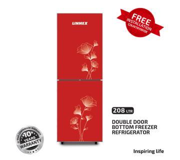 Linnex Refrigerator LNX-REF-208GD-BM-RED FL