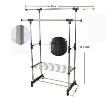 Two layer cloth hanging stand