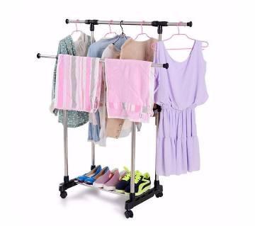 Folding double cloths & shoe rack