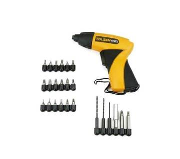 Tolsen Cordless Electric Screwdriver With 24 Access