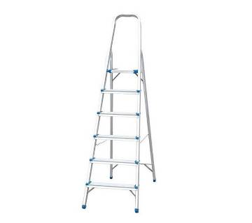6 Steps Single Ladder - Silver