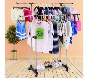 Folding Double Clothes & Shoe Rack