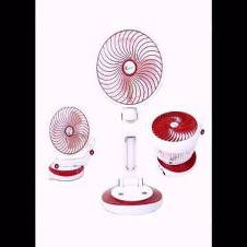 Rechargeable LED light and fan