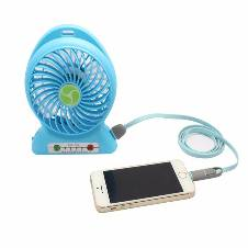 Rechargeable mini fan with power bank