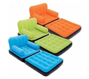 Inflatable Single Air Chair Sofa + Foot Rest