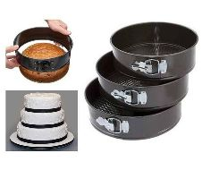 Round shaped cake pan set (3 pcs)