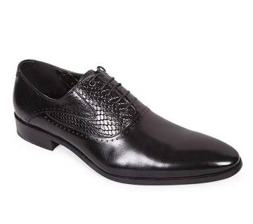 Venturini Men's Black Shiny Leather Casual Shoe | AjkerDeal.com1