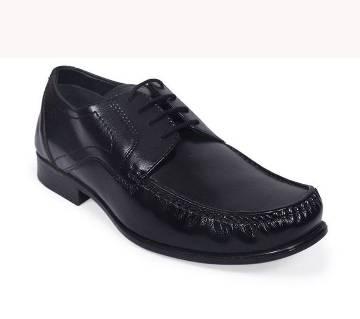 Apex Men's Black Leather Formal Shoe | AjkerDeal.com1