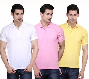 Gents short sleeve polo shirt combo offer (3 pcs)