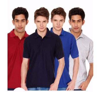 Gents short sleeve polo shirt combo offer (4 pcs)