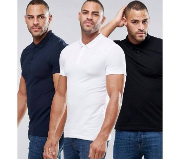 Gents short sleeve polo shirt combo offer (3 pcs)