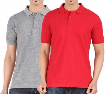 Gents short sleeve polo shirt combo offer (2 pcs)