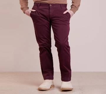 Mens Cotton Slim Fit Stretchable Casual Chinos