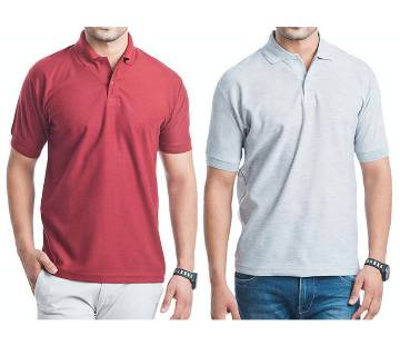 Mens Half Sleeve Polo shirt combo Pack