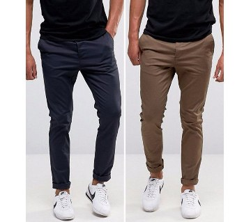 Cotton gents gabardine pants combo offer (2 pc)